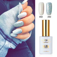 2 PIECES RS 002 292 Gel Nail Polish UV LED Sequined Gel Varnishes Soak Off 15ml