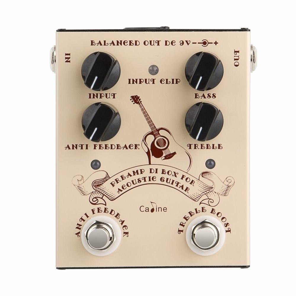 CP-40 DI BOX pour guitare acoustique avec préampli Anti Feedback et aigus Boost pédale commutateur guitare DI Box