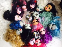 Free Shipping Original High Quality Muiti styles Monster Doll Heads Doll Accessories For Monster Dolls DIY