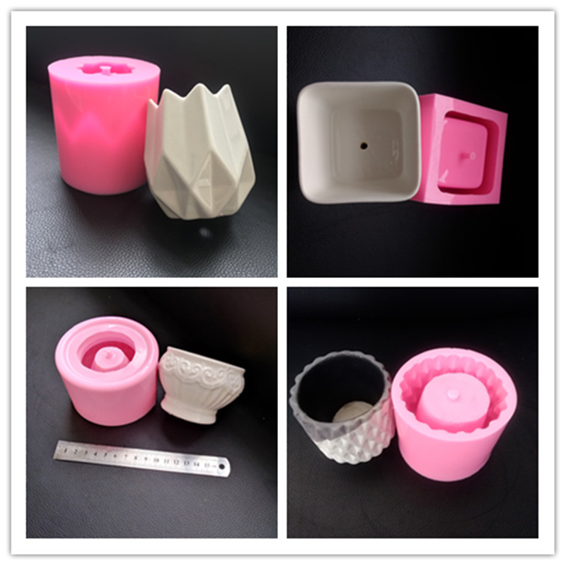 Ceramic Clay Pots Mold Concrete Planter Silicone Mould For Home Decoration Table Crafts Making Creative Flower Pot Molds
