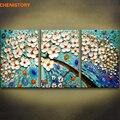 Картина без рамы  3 шт.  белая  синяя  с цветами  в виде дерева  в виде ножа  современная  настенная  художественная живопись  на холсте  для дома...