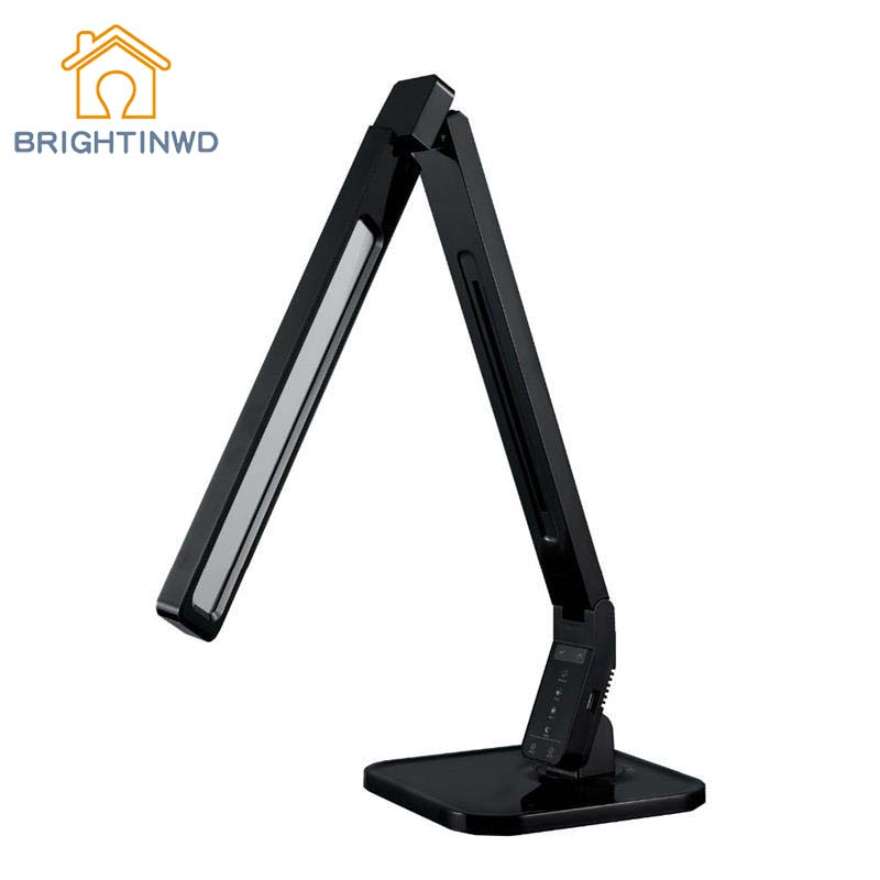 BRIGHTINWD Eye Protection Desk Lamp Four Colors Temperature And Brightness Adjustable Touch Button LED Nightime Night Light