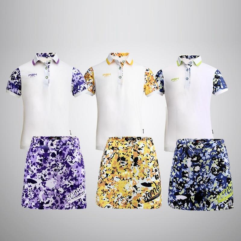 Children Breathable Golf Suit Girls Summer Soft Shirt Skirt For Girls Kids High-Elastic Soft Slim Clothing Set AA51881