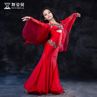 Hot Sale New Oriental Dance Costumes Wuchieal kids girls Belly Dance Costume bra+dress suits performance Clothes RT166