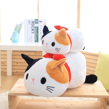 Soft Plush Cartoon Cat With Bow Stuffed Animal Cat Toy For Children's Day Gift Or Bedroom Decoration 50/70 Cm