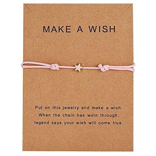 Браслет Wish Card, регулируемый, ручной, плетеный, женский, минималистичный, сердце, корона, круглая нить, Ehthic, браслет, Модные женские ювелирные изделия - Окраска металла: 28
