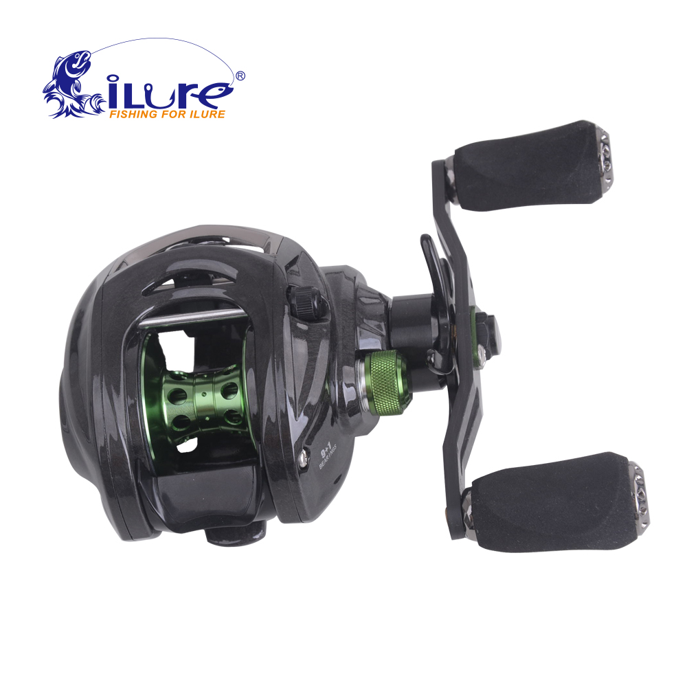 Фотография iLure Brand Carbon Super lighter corrosion protection 10BB Speed saltwater baitcasting  Baitcasting roller Bass Carp Reel Pesca