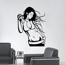 Sexy Girl Vinyl Wall Decal Fashion Sexy Woman Mural Wall Sticker Clothes Store Beauty Salon Bedroom Home Decorative(China)