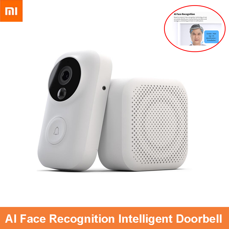 Xiaomi Face Recognition 720P Home Infrared Night Vision Video Doorbell Set Sports Detection SMS Push Intercom Free Cloud Storage(China)