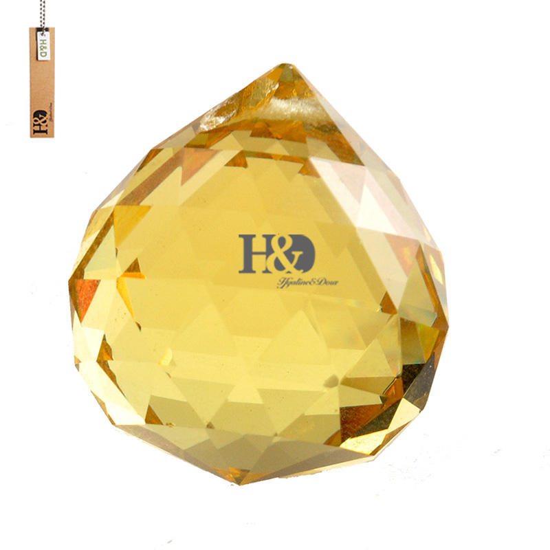 30MM Gold Glass Crystal Chandelier Pendant Wedding Lamp Hanging Decor Light Accessories Hanging Beauty Ball Ornaments 10 pcs/bag