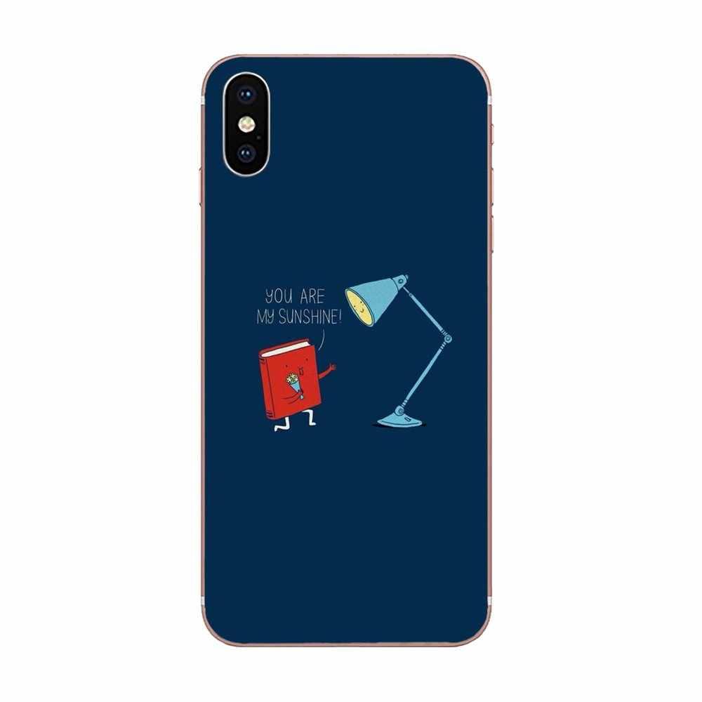 TPU Covers Cases Minimalist Book Love Table Lamp For Huawei P7 P8 P9 P10 P20 P30 Lite Mini Plus Pro 2017 2018 2019