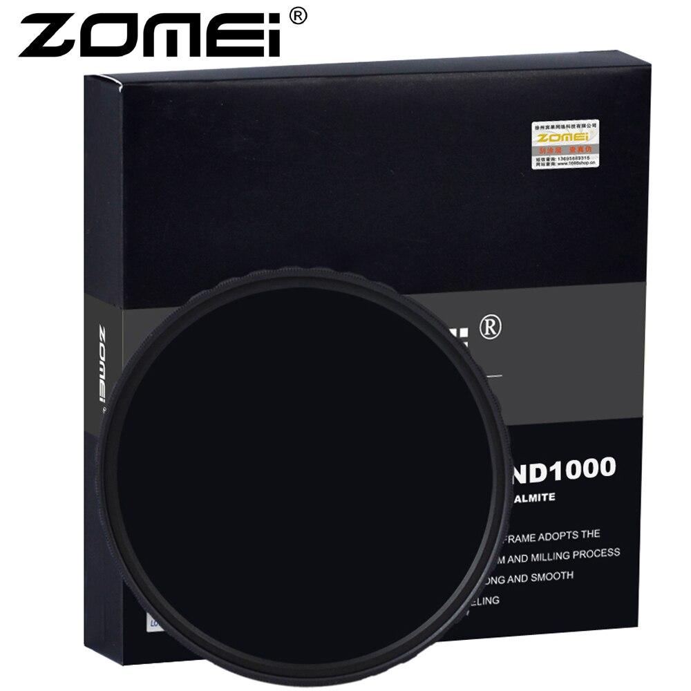 ZOMEI Ultra HD-W MC-ND1000 Filtro di Vetro Tedesco Neutral Density Camera Lens 52-82mm 18 strato di rivestimento 2.3mm Altezza del telaio
