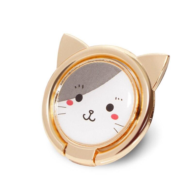 Uvr metal animal gato dedo anel suporte do telefone inteligente suporte do telefone móvel suporte para iphone xiaomi huawei todo o telefone montagem