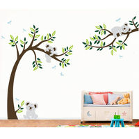 Koalas Tree Large Wall Sticker Decal Personalized Nursery Animal Wall Decoration Stickers For Baby Room Decoration