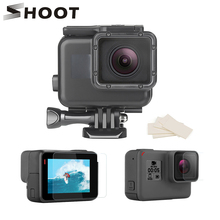 SHOOT for Gopro 7 6 5 Accessories Set Screen/Lens protector Hand Grip 45m Waterproof Case for Gopro Hero 7 6 5 Camera Accessory