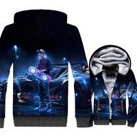 Back to the Future Hoodies Men 3D Jacket Hipster Sweatshirt 2018 Winter Thick Fleece Warm Coat Harajuku Streetwear Plus Size 5XL