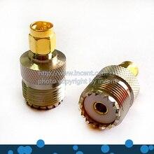 Free shipping 40 pcs/lot UHF female SO239 to SMA male straight Antenna Adapter цена и фото