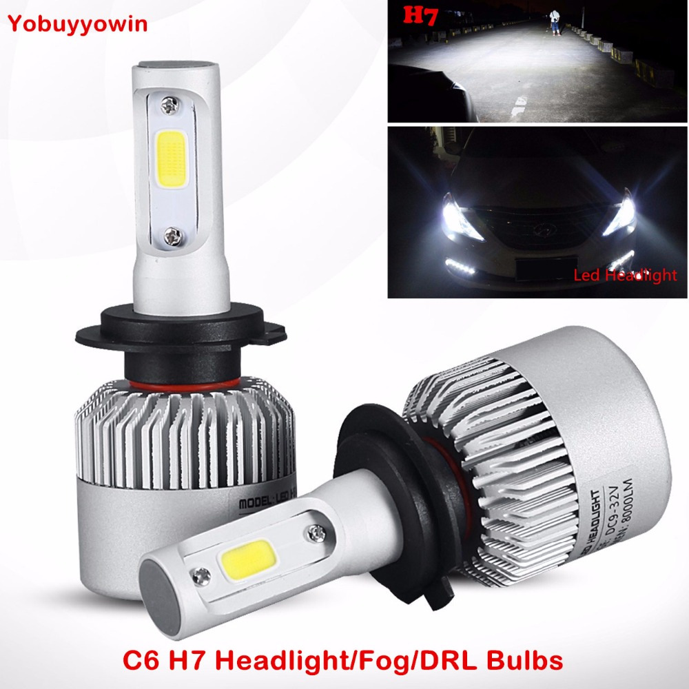 buy 2pcs led car headlight h7 type bulbs led kit white light 6000k 72 watt. Black Bedroom Furniture Sets. Home Design Ideas