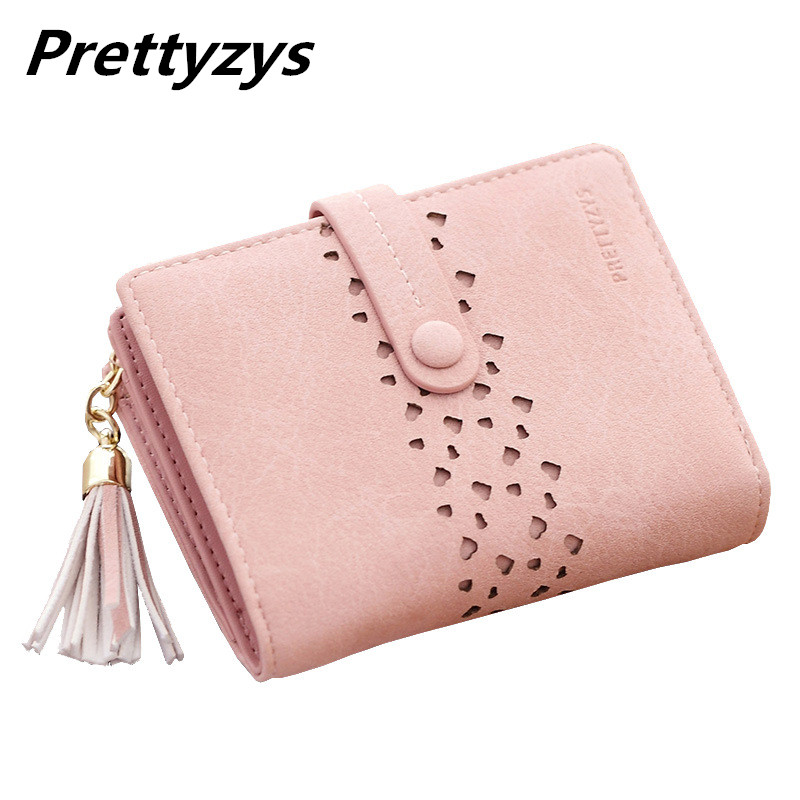 Prettyzys Women Leather Zipper Wallet Fashion Lady Portable Multifunction Short Solid Color Change Purse Female Clutch Carteras