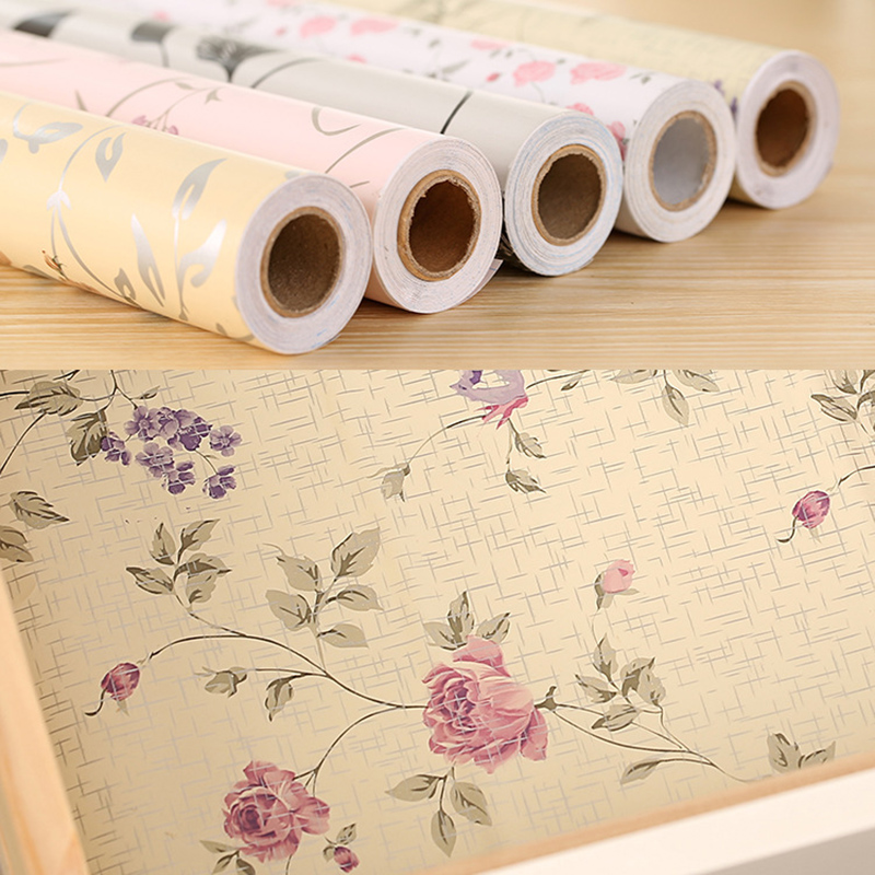 Can Be Cut 5 Colors Moisture Pad of Paper Self-adhensive Anti-oil Mats Wallpaper for Cabinets Drawer Kitchen 45x200cm B5