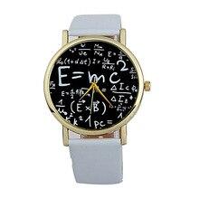 277c7ad8103 Assistir Número Símbolos Matemáticos Do Falso Couro das mulheres Analógico relógio  de Quartzo relógio Estudantes de