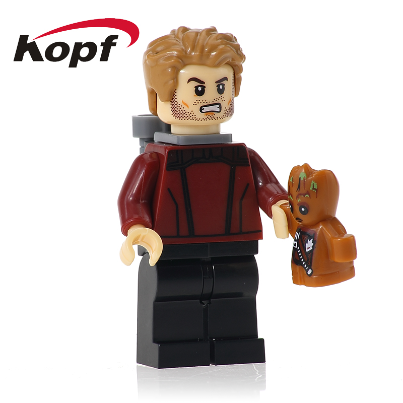 XH 610 Building Blocks Guardians of the Galaxy Star-Lord Chessman Supervillain Super Heroes Bricks Learning Children Gift Toys
