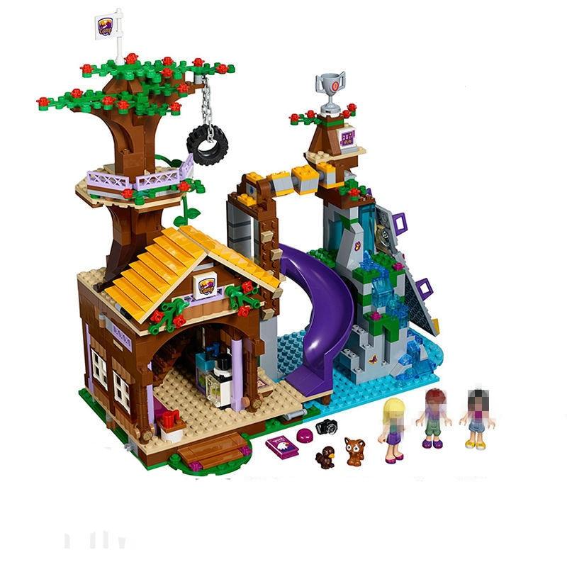 StZhou Friends Series Adventure Camp Tree House Building Blocks Classic For Girl Kids Toys Marvel Compatible Legoe