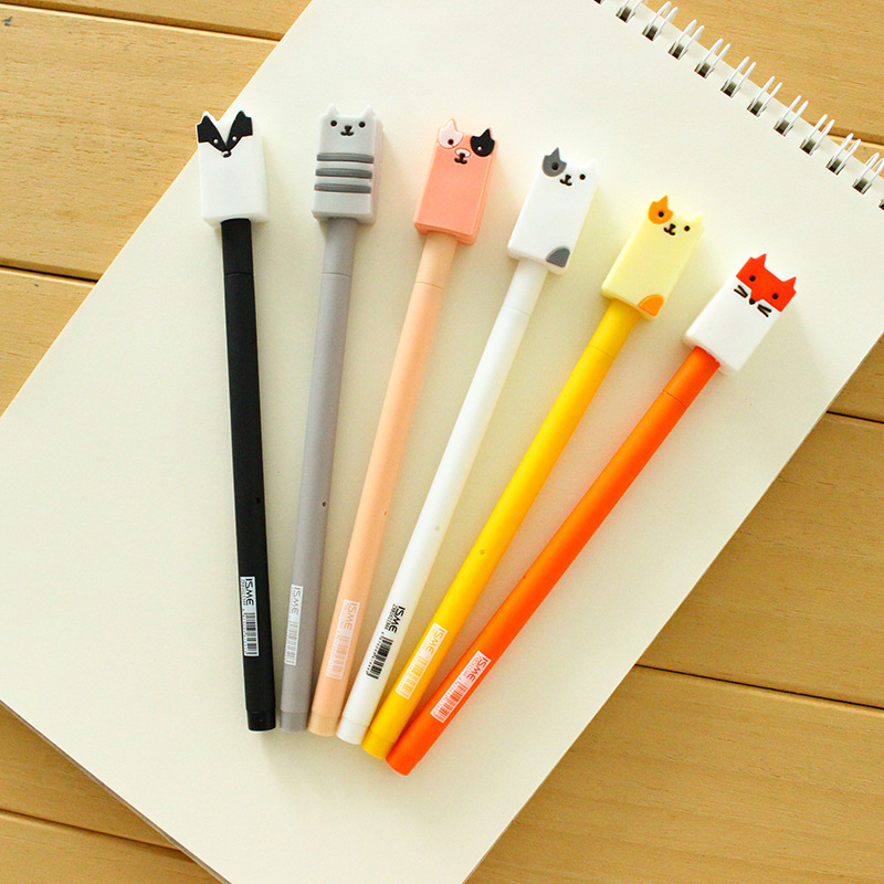 36 шт. Гелевые ручки мультфильм wuli для черного цвета Kawaii подарок гелевые ручки для написания милые канцелярия; школьные принадлежности