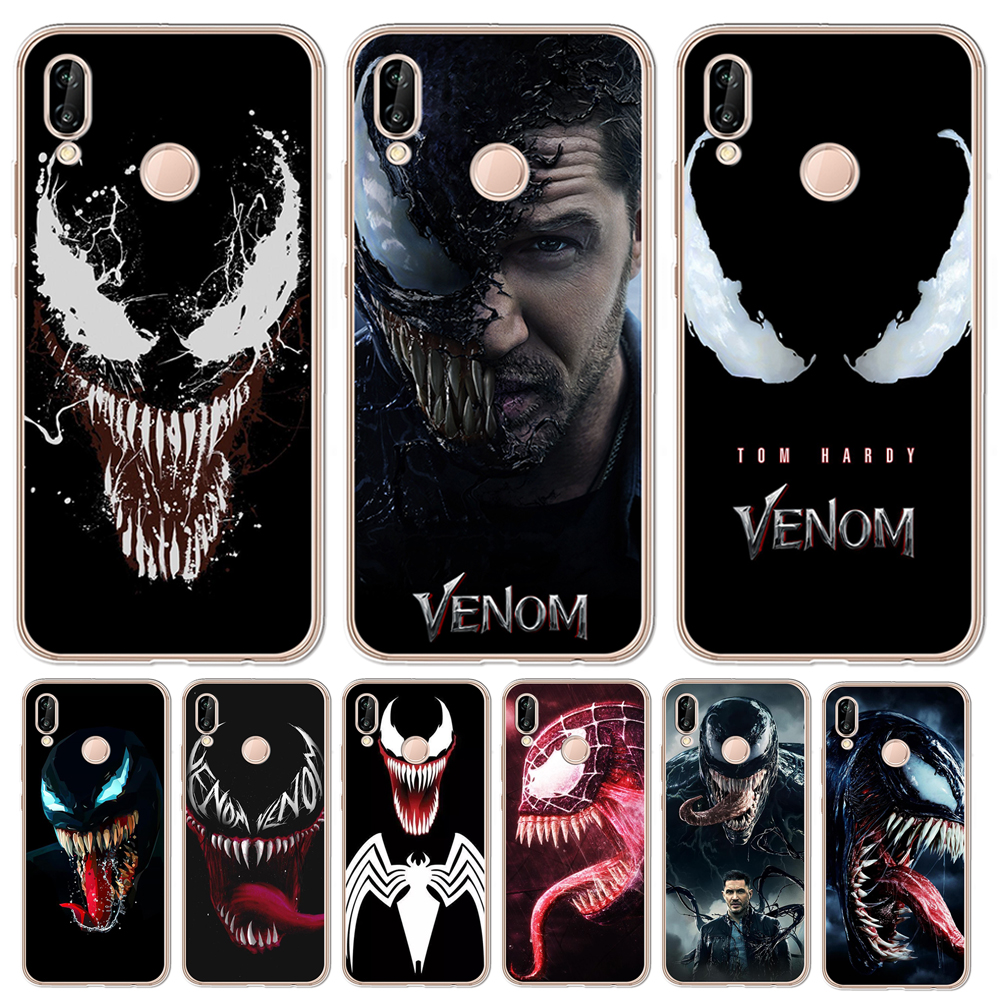 Hottest Venom cool For Coque Huawei <font><b>Honor</b></font> 6X 6A 7 7X 7C 7A pro 8 8X <font><b>9</b></font> 10 8C <font><b>Lite</b></font> <font><b>Case</b></font> Silicone TPU <font><b>phone</b></font> cover luxury <font><b>marvel</b></font> image