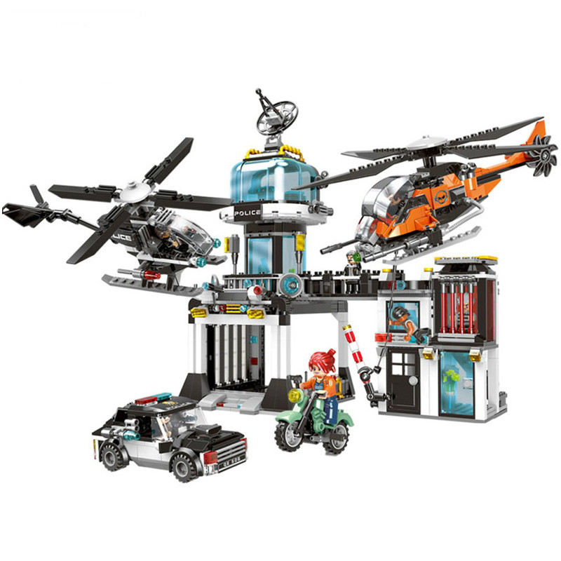 Creative City Police Series Building Blocks The Police Operational Command Station Set Building Blocks Model Toys for Kids GiftCreative City Police Series Building Blocks The Police Operational Command Station Set Building Blocks Model Toys for Kids Gift