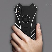 R-Just Batman Case For Apple iPhone X Cover  Armor Aluminum Alloy Metal Capinhas Coque 11 XS Pro MAX XR 10