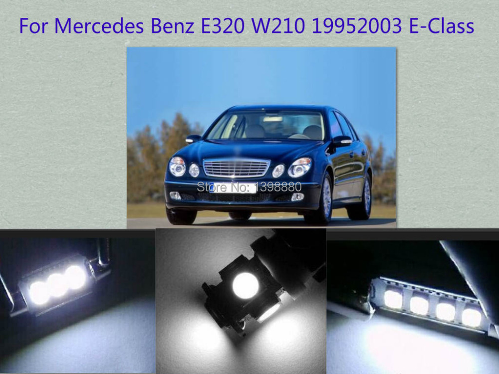 Error Free Canbus 12PCS White LED Interior Package kit For E320 W210 1995~2003 E-Class Map Dome Box Trunk Courtesy Tag Lights