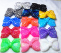 50pcs/ Lot multicolor   Middle Vertical Hole 42x54MM Chunky Resin Acrylic Rhinestone Bows Beads for Chunky Necklace Jewelry