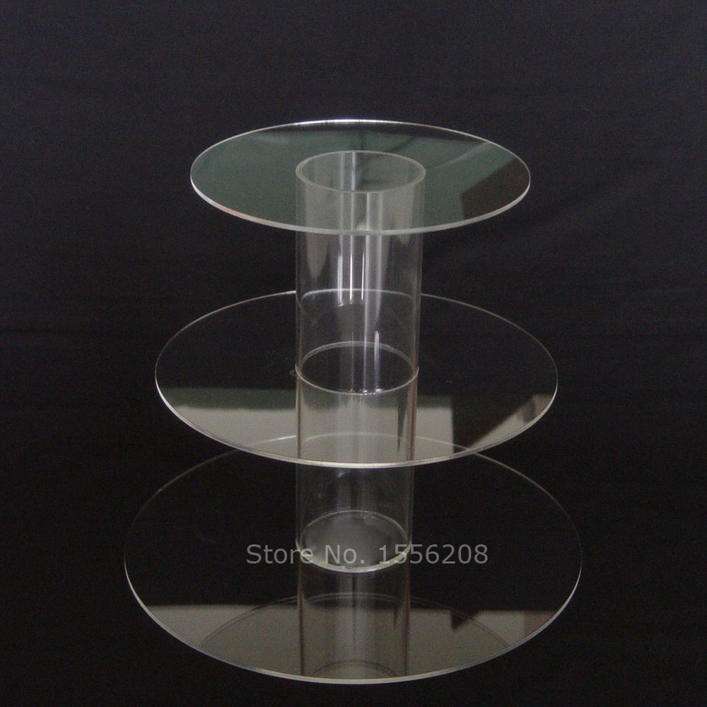 3 Tiers Acrylic Tower Cake Stand Cupcake Food Dessert Display Tube Rack Holder Easter Christmas Party Wedding Decoration Gifts
