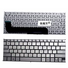 RU ASUS UX21 UX21E UX21A ノートパソコンのキーボードロシア銀色
