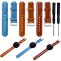 Replacement Leather Watch Band Strap + Tool For Garmin Forerunner 220 230 235