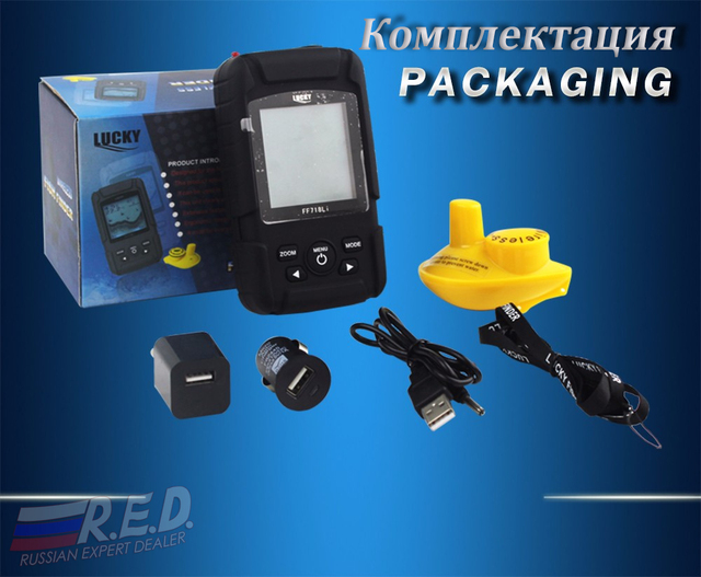 Şanslı FF718Li-W rus versiyonu kablosuz fishfinderer balık bulucu ile RU EN kullanım kılavuzu sonar balıkçılık эхолот yankı iskandil