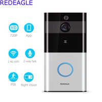 REDEAGLE Smart Low Power Battery Wifi Video doorbell Door Phone Intercom Set Wireless 720P HD Camera PIR Alarm