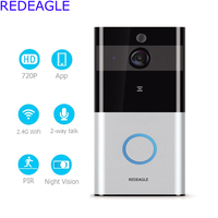 REDEAGLE Smart Low Power Battery Wifi Video Doorbell Door Phone Intercom Set Wireless 720P HD Camera