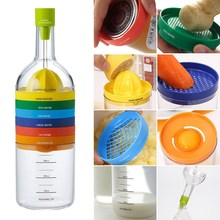 Multipurpose Kitchen Tools Set 8 in 1 Bottle Funnel Squeezer Cheese Grater Cap Opener Kitchen Fruits Vegetables Tools Gadgets