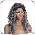 Two Tones Synthetic Lace Front Wig Ombre Glueless Heat Resistant Wig with Baby Hair Kinky Curly Wig