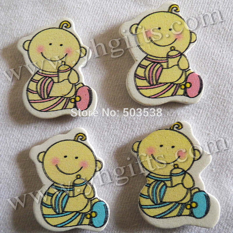 200PCS/LOT,Baby drink wood stickers,2.5x3.2cm.Kids toys,scrapbooking kit,Early educational DIY.Kindergarten crafts.Classic toy