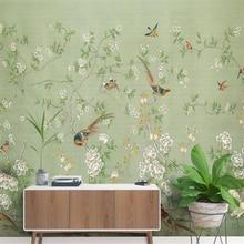 Beibehang 3d обои ручная роспись ручка цветок ностальгические пастырские обои фон papel де parede обои 3d на стену