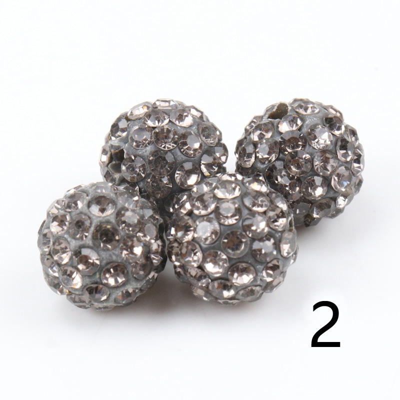 Wholesale Lot Micro Pave Disco Cristal Strass Perles Bracelet Spacer 27 Color