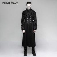 Панк рейв пара панк новинка 2017 года deisgn Модные длинные зимние черные сапоги пальто для будущих мам для мужчин Y 742