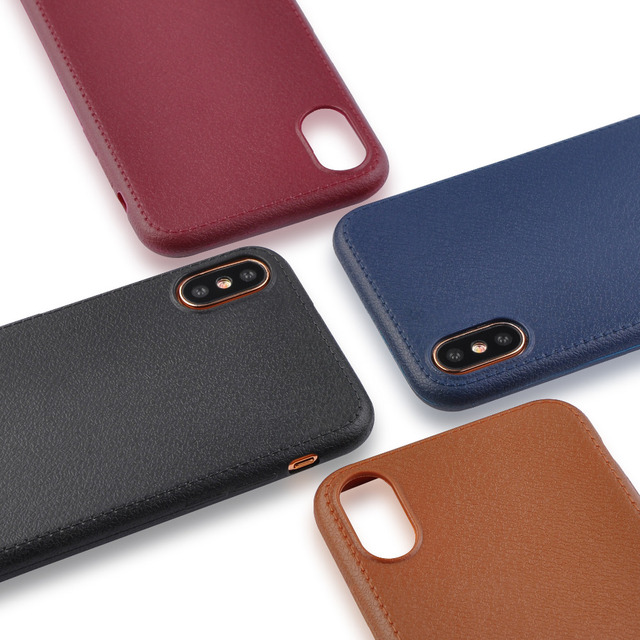 Ranipobo Luxury Phone Case For iPhone X Ultra Thin Leather
