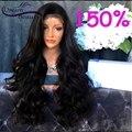 150% Полный Шнурок Человеческих Волос Парики для Черные Женщины Бразилец девственные Волосы Свободная Волна Кружева Перед Парики Glueless Полные Парики Шнурка парики