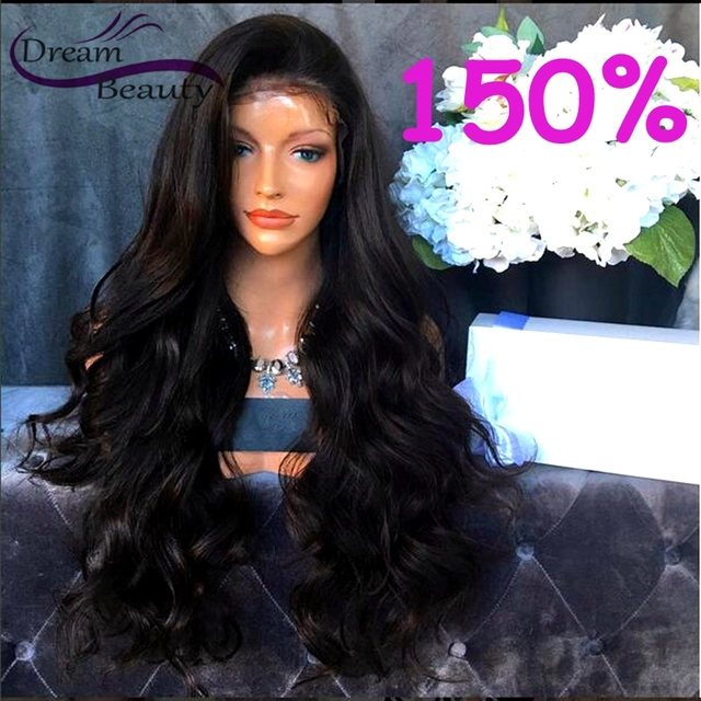 150% Full Lace Human Hair Wigs for Black Women Brazilian Virgin Hair Loose Wave Lace Front Wigs Glueless Full Lace Wigs