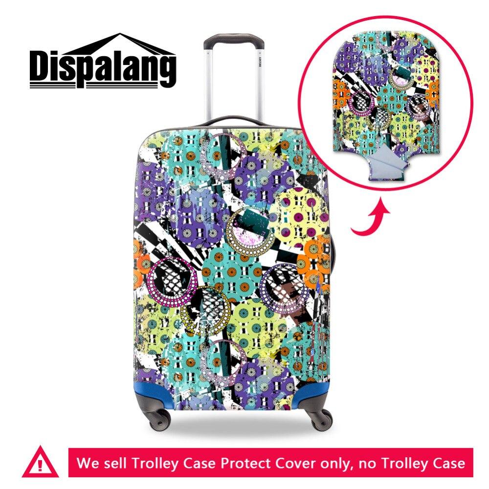 Dispalang эластичные Чемодан защитную крышку для 18-30 дюймов дело тележки граффити полосатые чемодан пыль дождевик Туристические товары