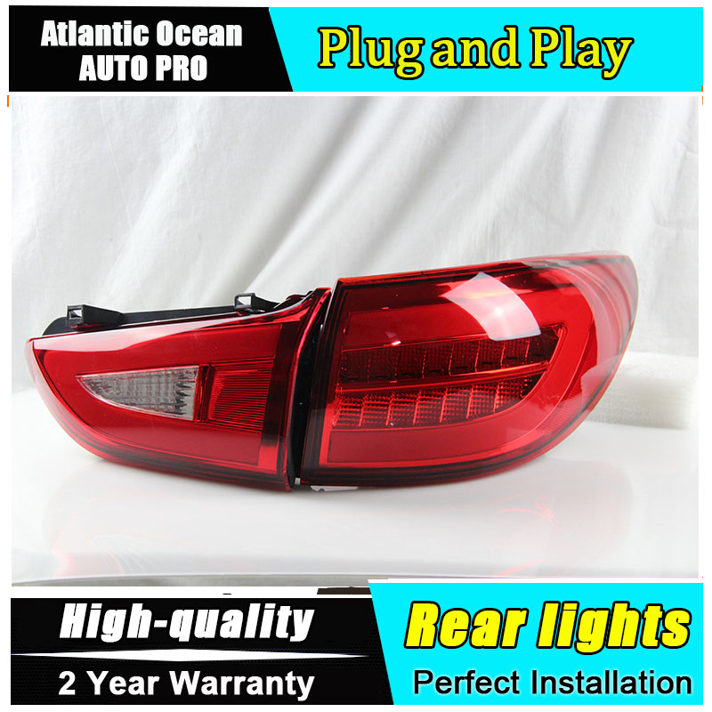 A&T Car Styling for Mazda6 Taillights 2014 2015 New Mazda 6 LED Tail Lamp LED Rear Lamp DRL+Brake+Park+Signal led lights